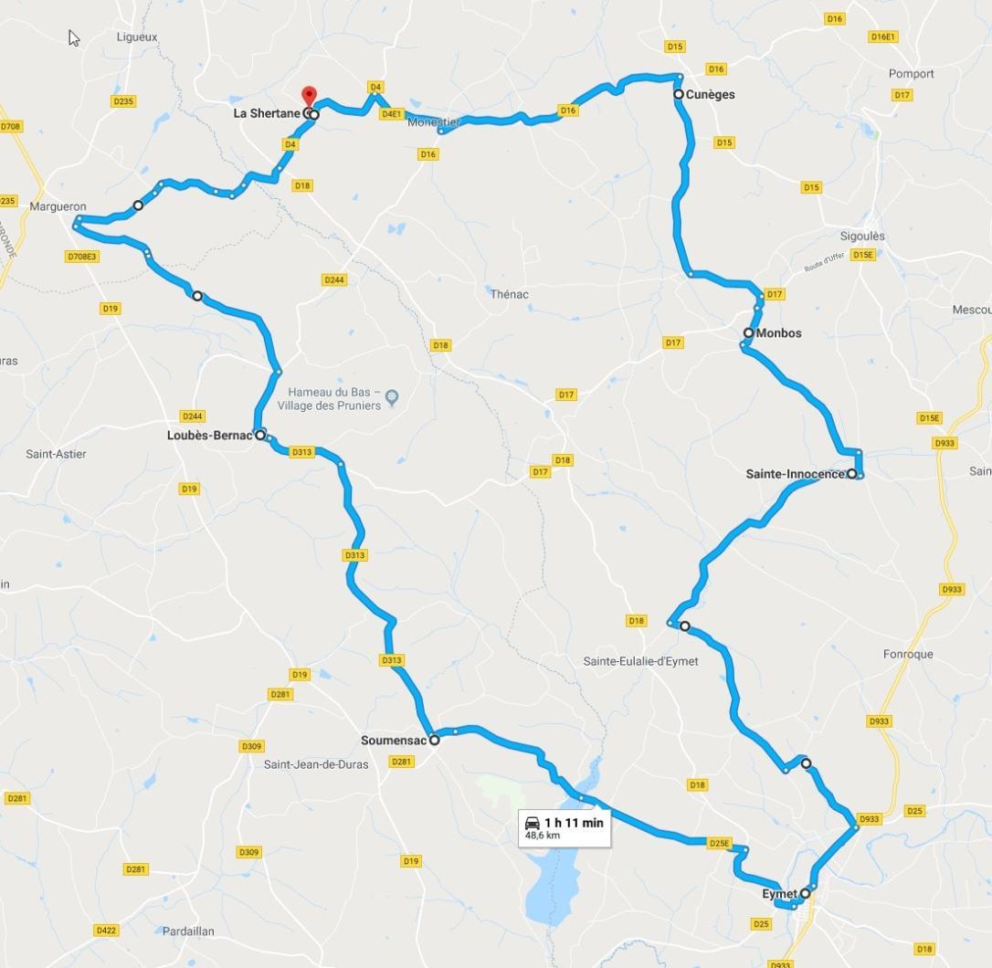 Circuit Soumensac-Eymet-Monbos